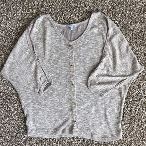 Charlotte Russe Top heathered brown Sz.S